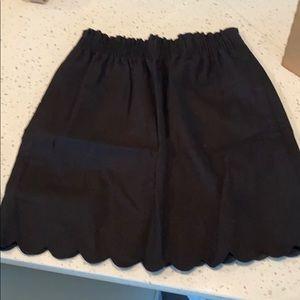 JCrew Scalloped Skirt Size 0